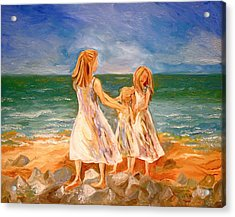 Sisters Acrylic Print by Rebecca Robinson