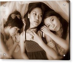 Sisters Repose 2 Acrylic Print by Annie