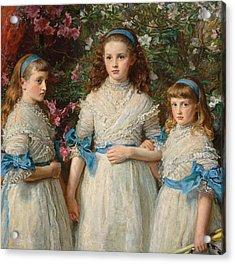 Sisters Acrylic Print by Sir John Everett Millais