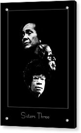 Sisters Three Acrylic Print by Richard Gordon