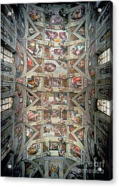 Sistine Chapel Ceiling Acrylic Print by Michelangelo