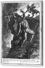 Sisyphus Stone Acrylic Print by Granger