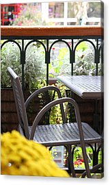Acrylic Print featuring the photograph Sit A While by Laddie Halupa
