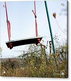 Sit Of Swing Acrylic Print by Bernard Jaubert