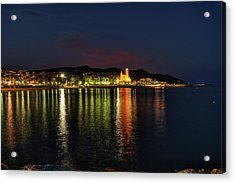 Acrylic Print featuring the photograph Sitges Night 001 by Lance Vaughn