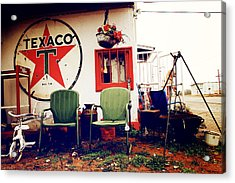 Sitting At The Texaco Acrylic Print