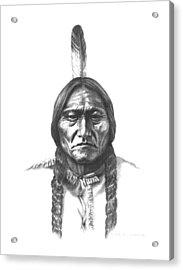 Sitting Bull Acrylic Print by Lee Updike