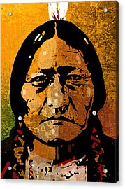 Sitting Bull Acrylic Print by Paul Sachtleben