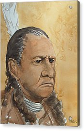 Sitting Bull Acrylic Print by Pete Maier
