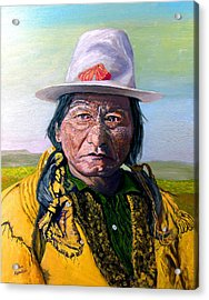 Sitting Bull Acrylic Print by Stan Hamilton