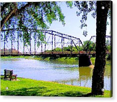 Acrylic Print featuring the photograph Sitting In Fort Benton by Susan Kinney