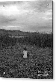 Sitting Nude-nevada Acrylic Print by Christian Slanec