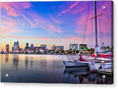 Sitting On The Dock Of The Bay Acrylic Print