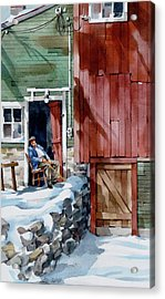 Sitting Out Winter Acrylic Print by Art Scholz