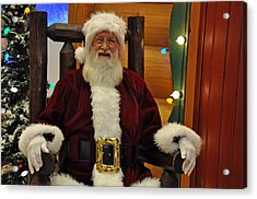 Sitting Santa Claus Acrylic Print