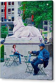 Sitting With Patience Acrylic Print by Lou Spina