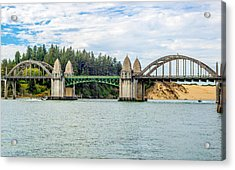 Siuslaw River Draw Bridge  Acrylic Print