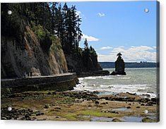 Siwash Rock Stanley Park Vancouver Acrylic Print by Pierre Leclerc Photography