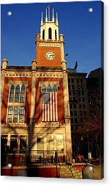 Six-fifteen At City Hall Acrylic Print by Lois Lepisto