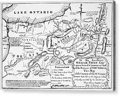 Six Nations Map 1771 Acrylic Print