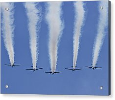 Acrylic Print featuring the photograph Six Roolettes In Formation by Miroslava Jurcik