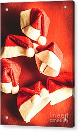 Six Santa Hats In Vintage Tone Acrylic Print by Jorgo Photography - Wall Art Gallery