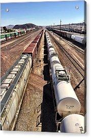 Six Trains Acrylic Print