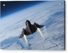Sixteen Miles High Acrylic Print by Peter Chilelli