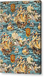 Sixteenth Century Ships Acrylic Print