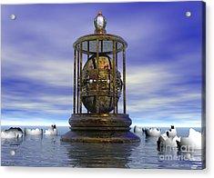 Acrylic Print featuring the digital art Sixth Sense - Surrealism by Sipo Liimatainen
