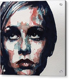 Sixties Sixties Sixties Twiggy Acrylic Print by Paul Lovering