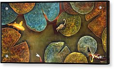 Sizing It Up Acrylic Print by Stephen Schubert
