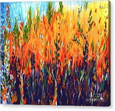 Sizzlescape Acrylic Print by Holly Carmichael