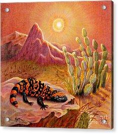 Sizzling Heat Acrylic Print by Marilyn Smith