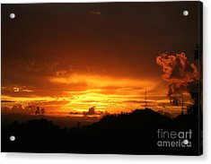 Acrylic Print featuring the photograph Sizzling Sunset by The Art of Alice Terrill