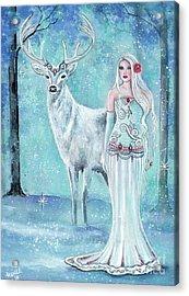 Skadi Nordic Goddess Acrylic Print by Renee Lavoie