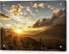Skagit Valley Sunset Acrylic Print by Charlie Duncan