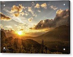 Skagit Valley Sunset Acrylic Print
