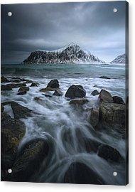 Skagsanden Beach Acrylic Print by Tor-Ivar Naess
