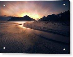 Skagsanden Sunrise Acrylic Print by Tor-Ivar Naess