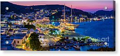 Skala Panorama Acrylic Print by Inge Johnsson