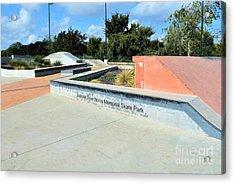 Acrylic Print featuring the photograph Skate Park by Ray Shrewsberry