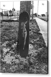Skateboard Pin Up Acrylic Print by WaLdEmAr BoRrErO
