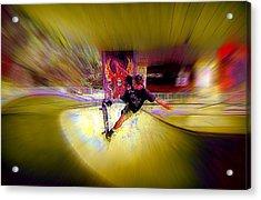 Acrylic Print featuring the photograph Skateboarding by Lori Seaman
