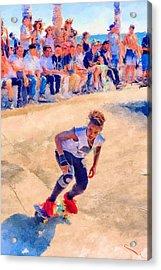 Skateboarding Acrylic Print by SM Shahrokni