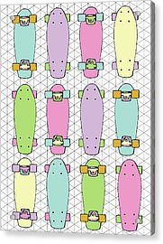 Skateboards Acrylic Print
