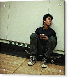 Skater #skate #streetphoto Acrylic Print