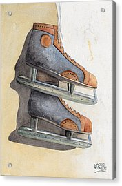 Skates Acrylic Print by Ken Powers