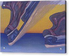 Skates Acrylic Print by Ken Yackel