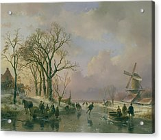 Skating In Holland Acrylic Print